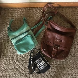 Handbags - a lanyard & 2 cross body bags